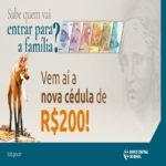 Nota de r$ 200 com lobo-guará vai ser lançada pelo banco central