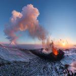 Erupção do vulcão Plosky Tolbachik, Kamchatka, Rússia – Tour Virtual